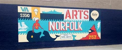 Building Location Landmark Mural (Arts Norfolk)
