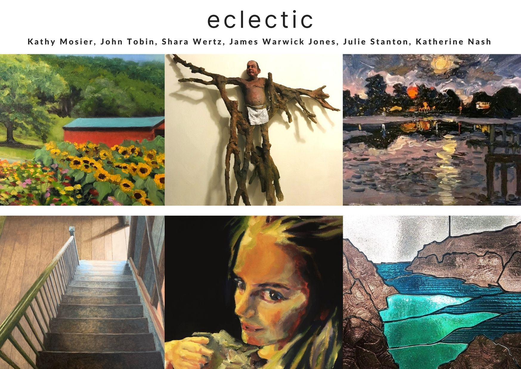 Images of artwork that will be in the exhibition opening at the Offsite Gallery on September 26