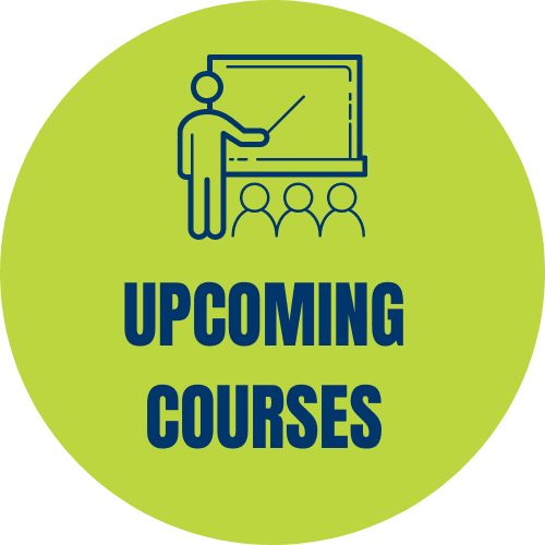 Upcoming courses graphic and link