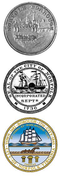 image of Norfolk city seals