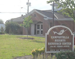 Compostella Heights Resource Center Sign and Building